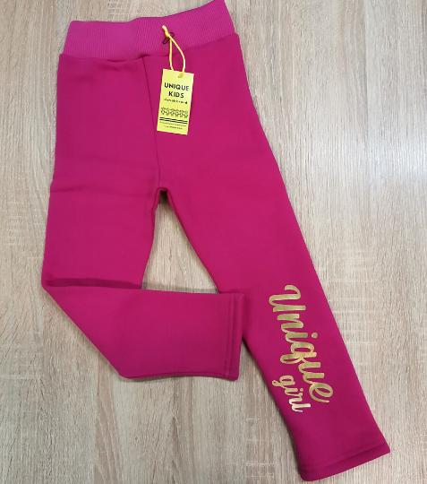 Legíny Unique Girl Fuchsia-Gold