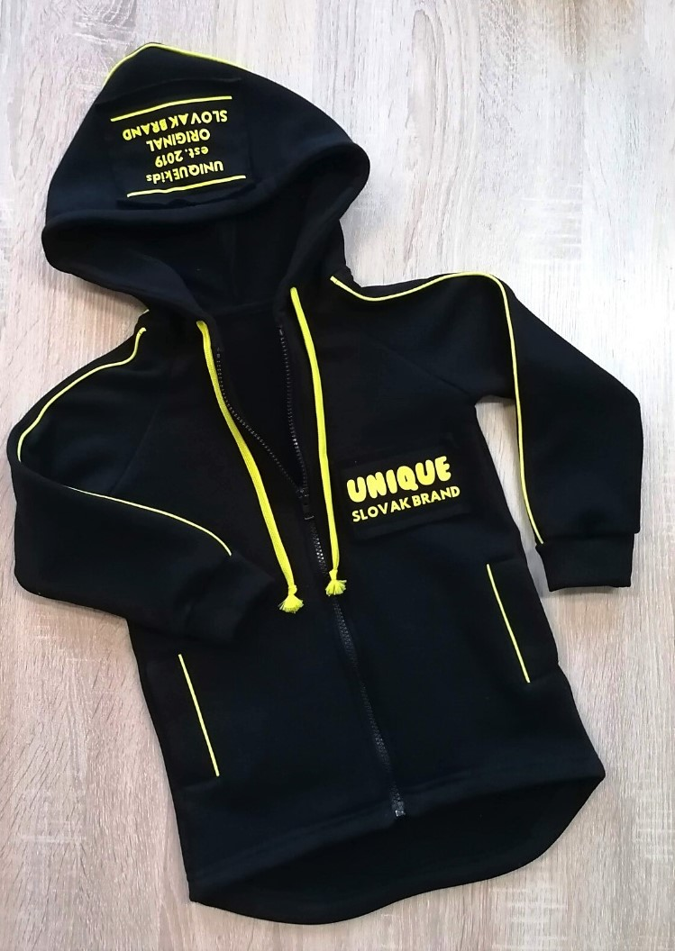 Mikina na zips ORIGINAL Unique Black-Lemon